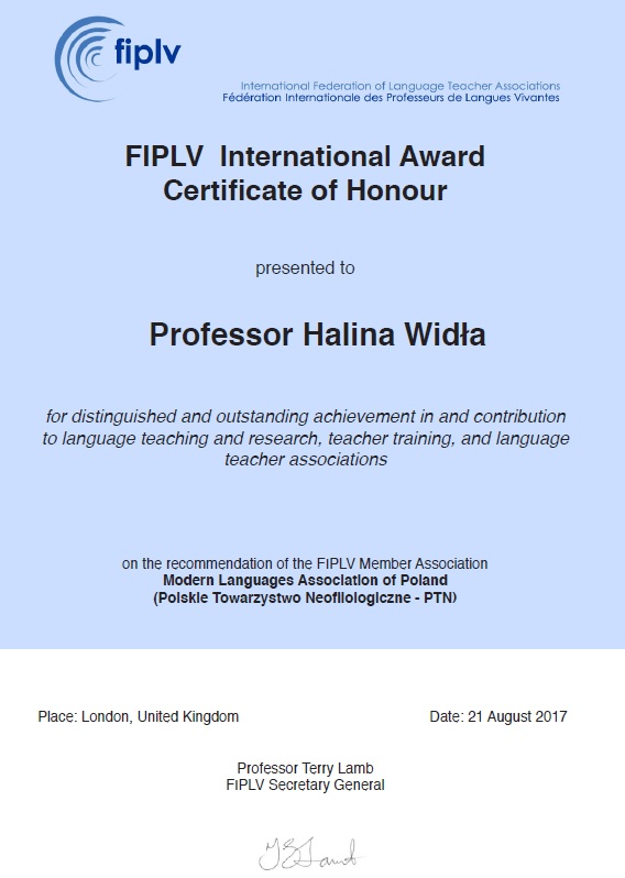 2017.08.21 FIPLV award Halina